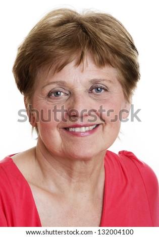 portrait of a happy senior woman - stock photo