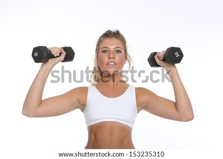 Portrait of a Happy Young Woman Working Out and Doing Fitness Activities