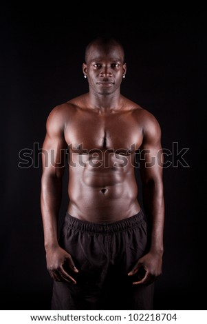 Portrait of a healthy young guy - stock photo