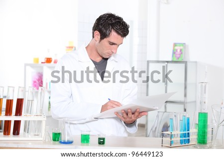 portrait of a lab assistant