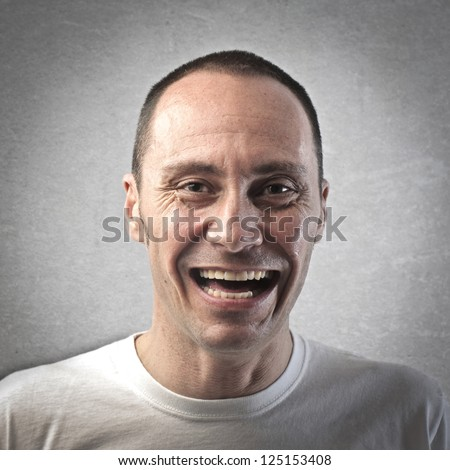 Portrait of a laughing man