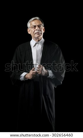 Portrait of a lawyer - stock photo