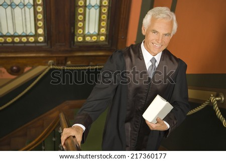 Portrait of a lawyer smiling