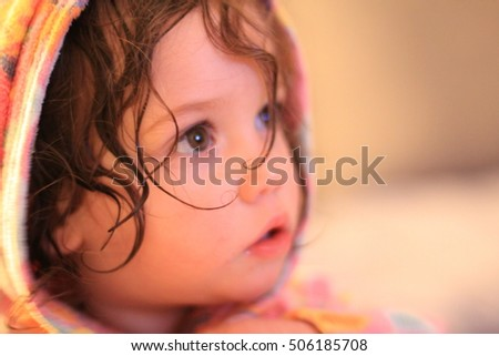 Portrait of a little cute girl