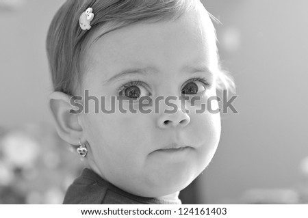 Portrait of a little girl close-up