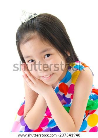 Portrait of a lovely asian girl - stock photo