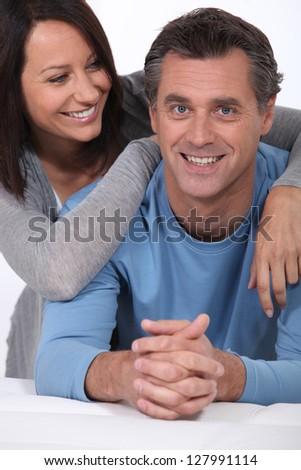 Portrait of a loving couple - stock photo