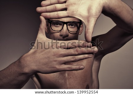 Portrait of a man - stock photo