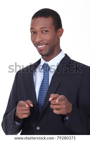 Portrait of a man in a suit - stock photo