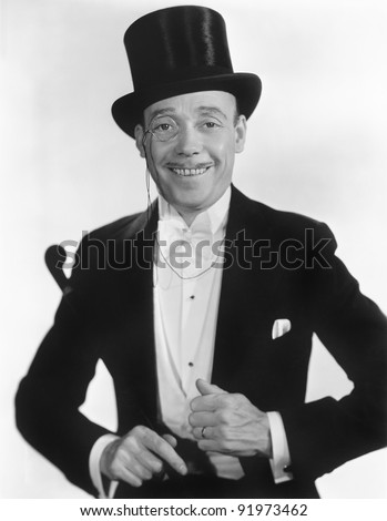 Portrait of a man in formal attire - stock photo