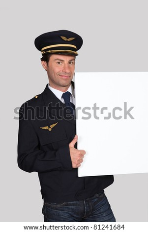 portrait of a man in pilot costume