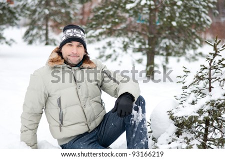Portrait of a Man in Winter Park