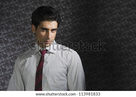 Portrait of a man thinking