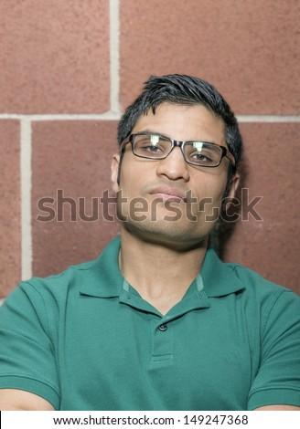 Portrait of a man with a arrogant face  - stock photo