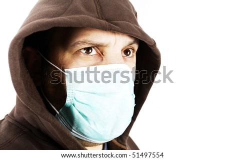 Portrait of a man with a surgical mask