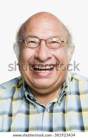 Portrait of a mature adult man - stock photo