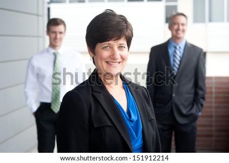 Portrait of a mature businesswoman taken outside - stock photo