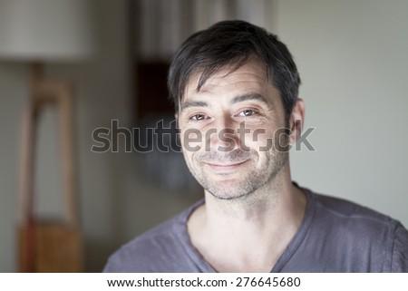 Portrait Of A Mature Spanish Man. Portrait Of A Mature Italian Man. - stock photo