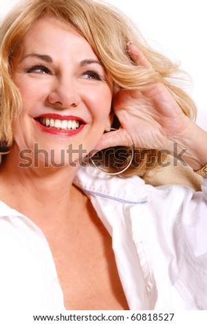 Portrait of a mature woman. - stock photo