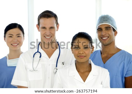 Portrait of a Medical Team - stock photo