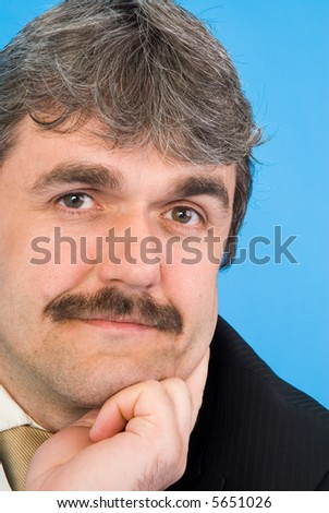 portrait of a middle age man - stock photo