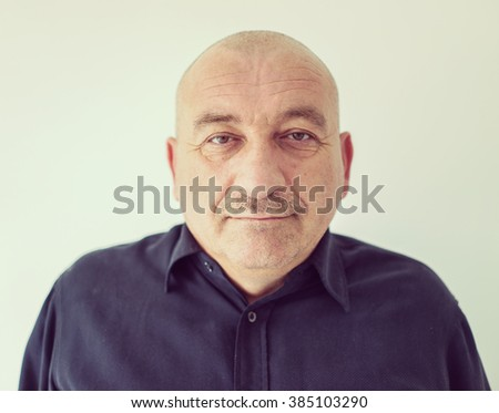 Portrait of a middle aged caucasian male - stock photo
