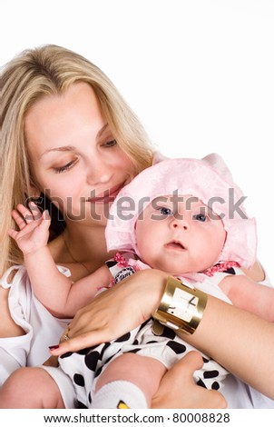 portrait of a mom with her baby