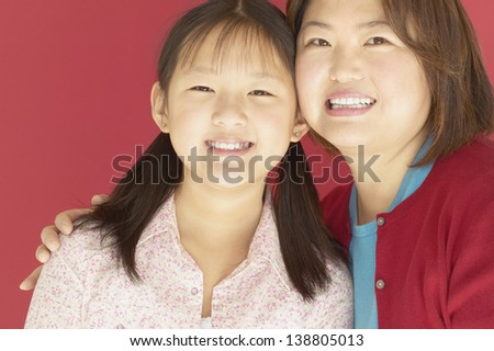 Portrait of a mother and her daughter