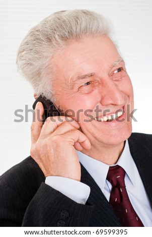Portrait of a nice business man on a white
