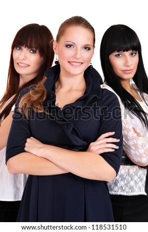 portrait of a nice business women posing - stock photo