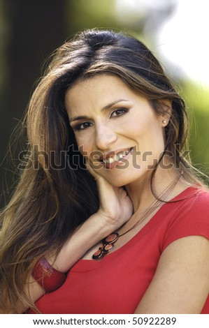 Portrait of a nice woman - stock photo