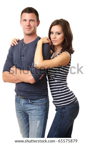 portrait of a nice young couple