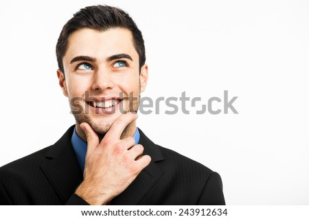 Portrait of a pensive young man  - stock photo