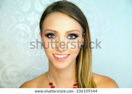 Portrait of a pretty woman / Woman - stock photo