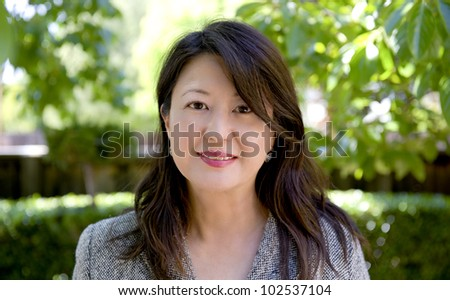 portrait of a professional asian woman - stock photo