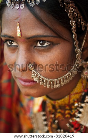 Portrait of a Rajasthan woman