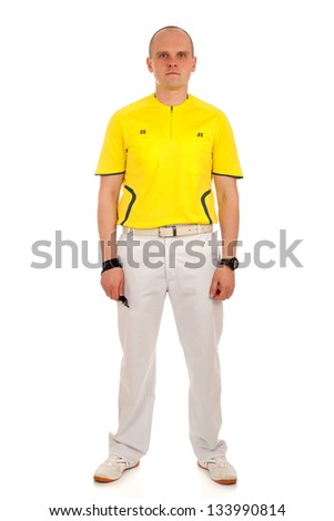 Portrait of a referee. - stock photo