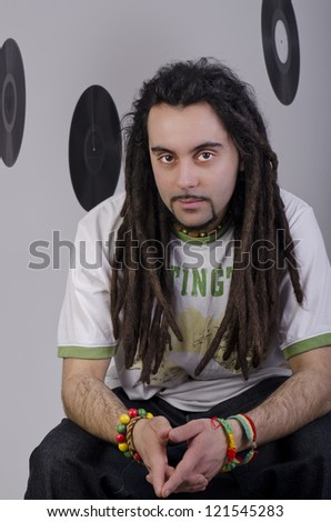 Portrait of a relaxed rastafarian man