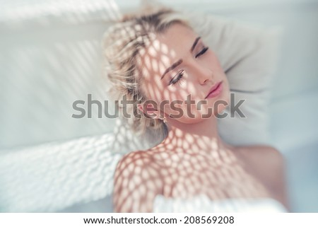 Portrait of a relaxing young woman