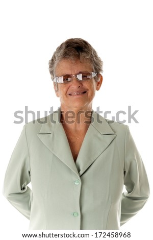 Portrait of a 60s senior . - stock photo