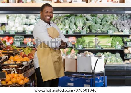 Portrait of a sales assistant - stock photo