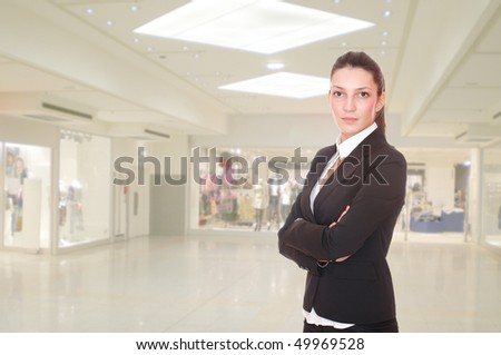 Portrait of a saleswoman in the shopping mall