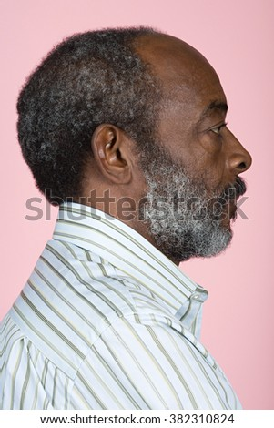 Portrait of a senior adult man - stock photo