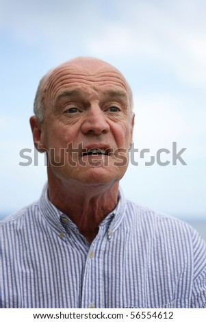 Portrait of a senior man angry