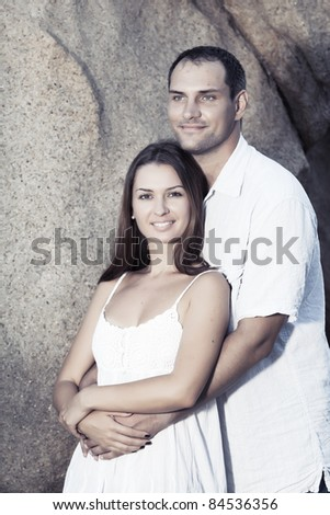 Portrait of a sexy young couple outdoor