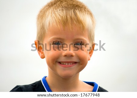 portrait of a small boy