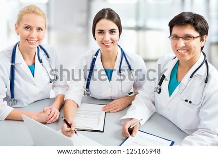 Portrait of a smart young doctors works in a hospital