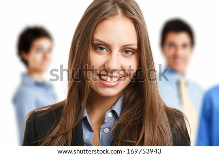 Portrait of a smiling beautiful business woman