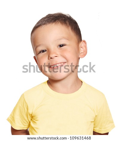 portrait of a smiling boy - stock photo