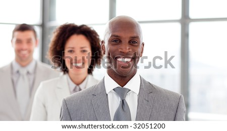 Portrait of a smiling businessman in office